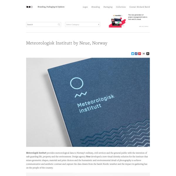 New Logo and Branding for Meteorologisk Institutt by Neue - BP&O