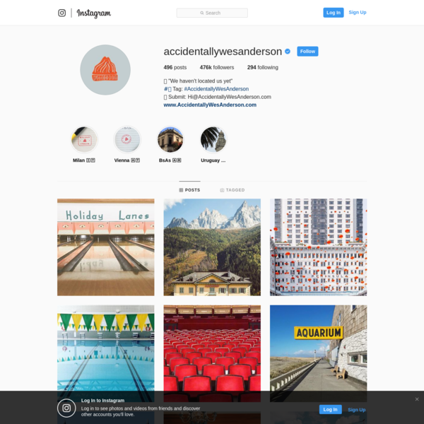 476.9k Followers, 294 Following, 496 Posts - See Instagram photos and videos from @accidentallywesanderson