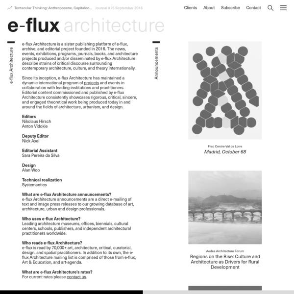 e-flux Architecture - e-flux
