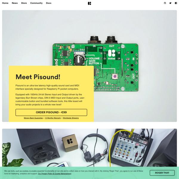 Pisound - Sound Card & MIDI Interface for Raspberry Pi