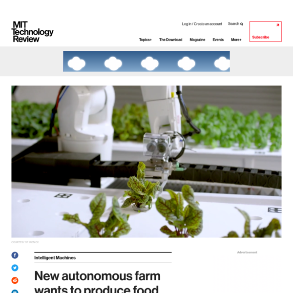"""Iron Ox isn't like most robotics companies. Instead of trying to flog you its technology, it wants to sell you food. As the firm's co-founder Brandon Alexander puts it: """"We are a farm and will always be a farm."""" But it's no ordinary farm."""