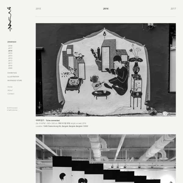 Artist Moonassi's official website. Drawings, prints, books, and daily blog.