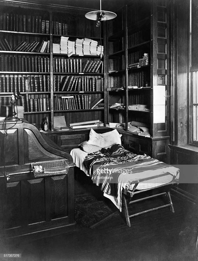 Thomas Edison's desk and sleeping cot in his lab in East Orange