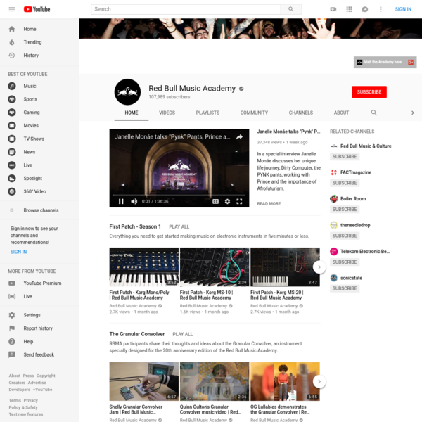 The Red Bull Music Academy is a global music institution committed to fostering creativity in music. We celebrate music, its culture, and the transformative ...