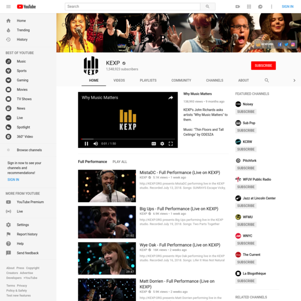KEXP is a nonprofit arts organization serving music lovers and artists through in-person, broadcast, and online programming. KEXP operates one of the most in...