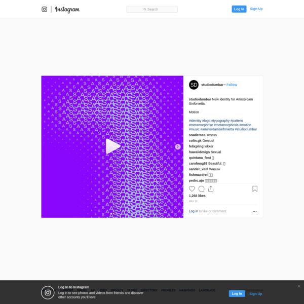 "1,268 Likes, 16 Comments - Studio Dumbar (@studiodumbar) on Instagram: ""New identity for Amsterdam Sinfonietta. Motion #identity #logo #typography #pattern #metamorphose..."""