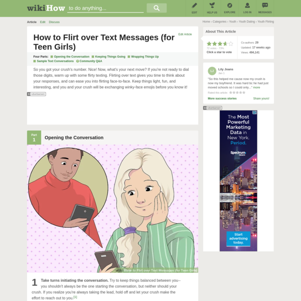 How to Flirt over Text Messages (for Teen Girls)