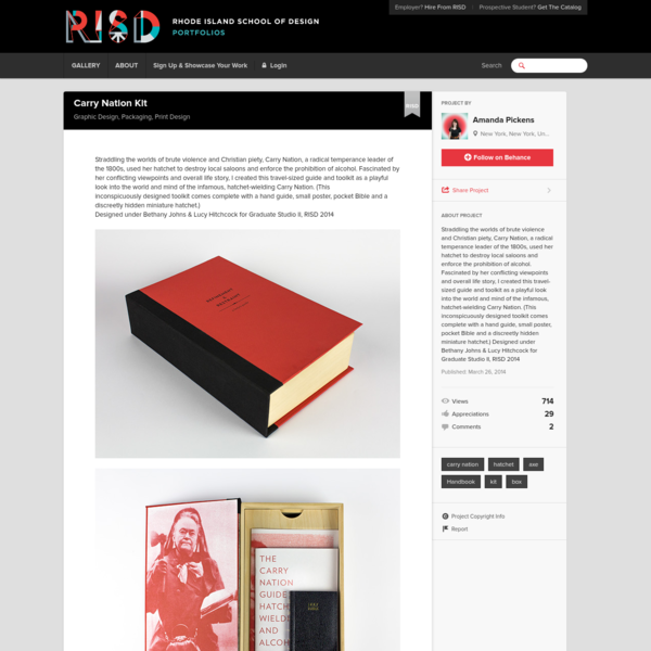 Carry Nation Kit on RISD Portfolios