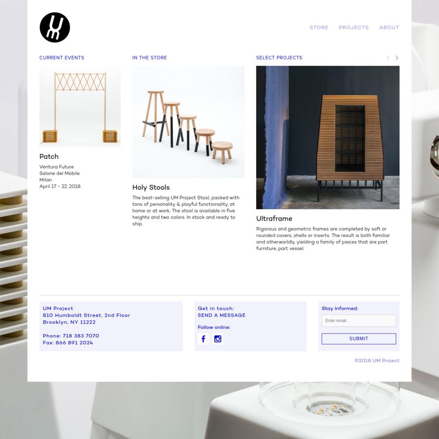 UM stands for User & Maker. UM Project designs furniture and unusual goods.