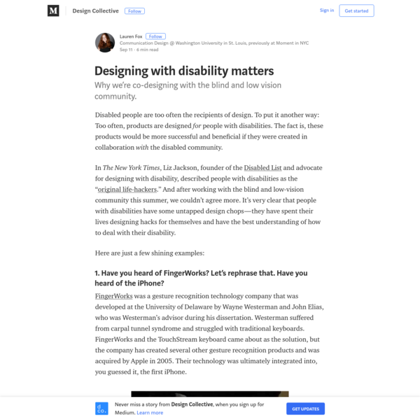 Designing with disability matters - Design Collective - Medium
