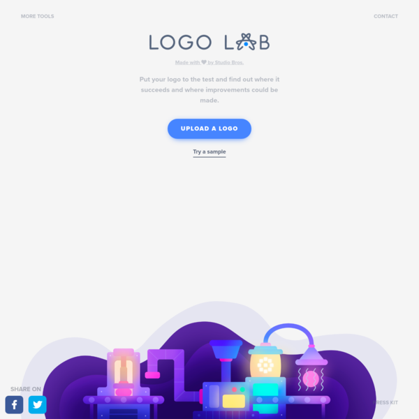 Logo Lab puts logos to the test. Simply upload a logo, and you'll be presented with visual experiments that test key factors like scalability, silhouette, and balance. Easily determine where a logo succeeds and where it could use some improvement.
