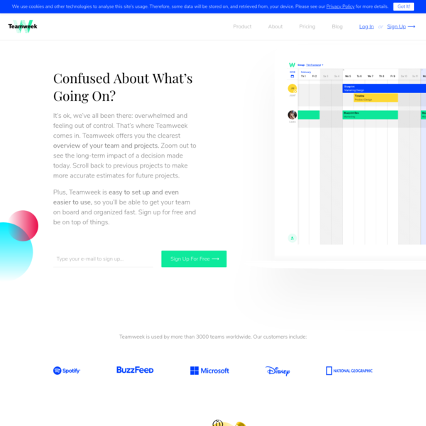 Teamweek is a time-saving online project planner and team calendar that brings some much needed sanity into your every workday. It helps you react to change fast, collaborate with your team, manage and share tasks intuitively.