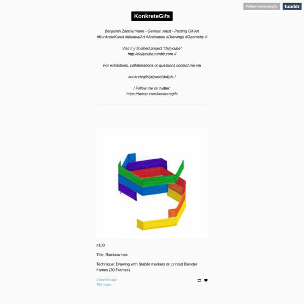 "Benjamin Zimmermann - German Artist - Posting Gif-Art #KonkreteKunst #MinimalArt #Animation #Drawings #Geometry // Visit my finished project ""dailycube"" http://dailycube.tumblr.com // For exhibitions,..."