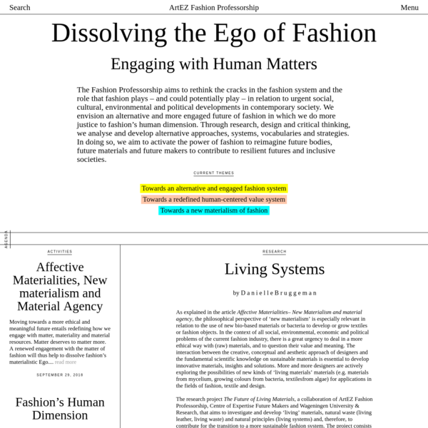 Dissolving the Ego of Fashion