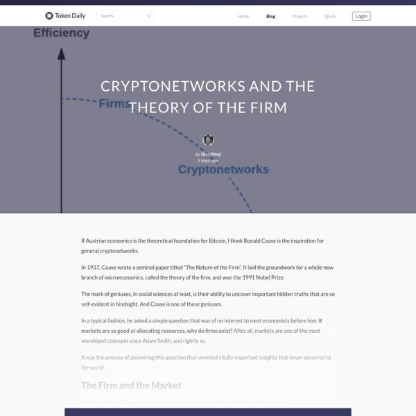 Cryptonetworks and the Theory of the Firm - Token Daily