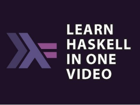 Get the Cheat Sheet Here : http://goo.gl/DYpGbv Best Free Haskell Book : http://goo.gl/Sx0ytb   http://www.newthinktank.com/2015/08/learn-haskell-one-video/