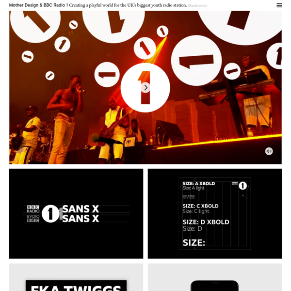 BBC Radio 1 has been at the vanguard of the young UK music scene for the last 50 years. Having grown into a super brand with multiple sub-brands like Live Lounge, Biggest Weekend and Teen Awards - and with a more competitive market than ever - it needed a clear branding system as well as a contemporary new graphic language.