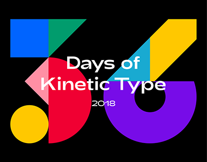 Experimentations with kinetic and dimensional typography for the 5th edition of 36DaysOfType (2018).