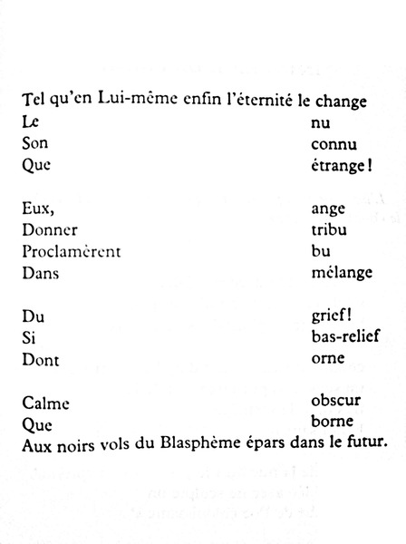 Bords de poèmes (Edges of poems) example, year unknown from <i>Anthologie de l'Oulipo</i>