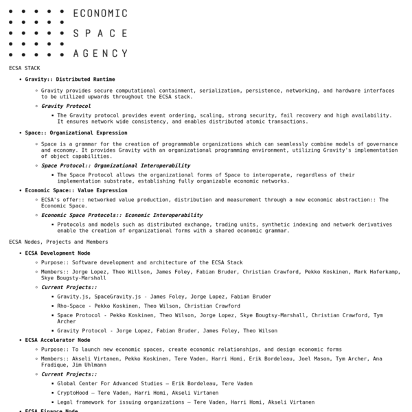 Economic Space Agency