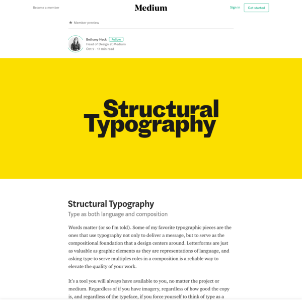 Structural Typography - Bethany Heck - Medium