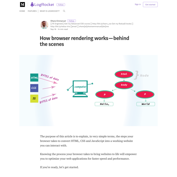 How browser rendering works - behind the scenes - LogRocket