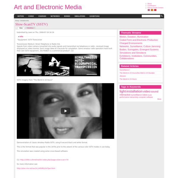 Slow-ScanTV (SSTV)   Art and Electronic Media