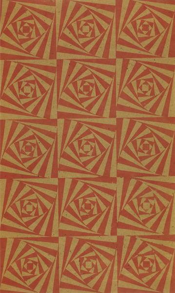Ruth Asawa, Logarithmic Spiral Squares (Red and Brown), 1951
