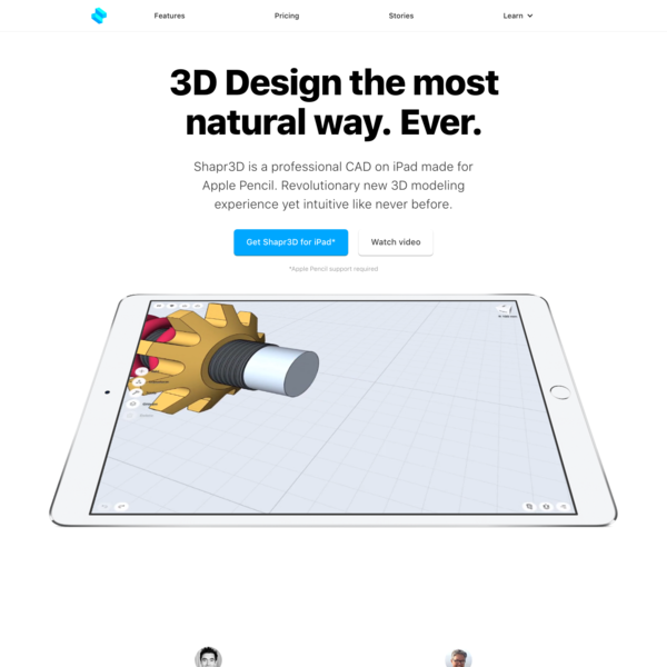 Shapr3D is the world's first professional 3D CAD designed for iPad and Apple Pencil.