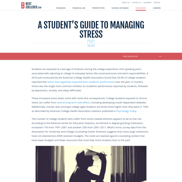 Student Guide to Balancing Stress   BestColleges.com