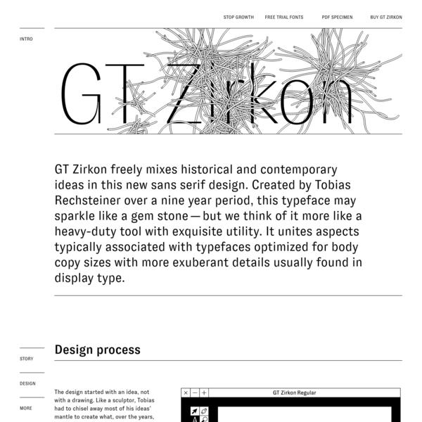 Are na / GT Zirkon Typeface