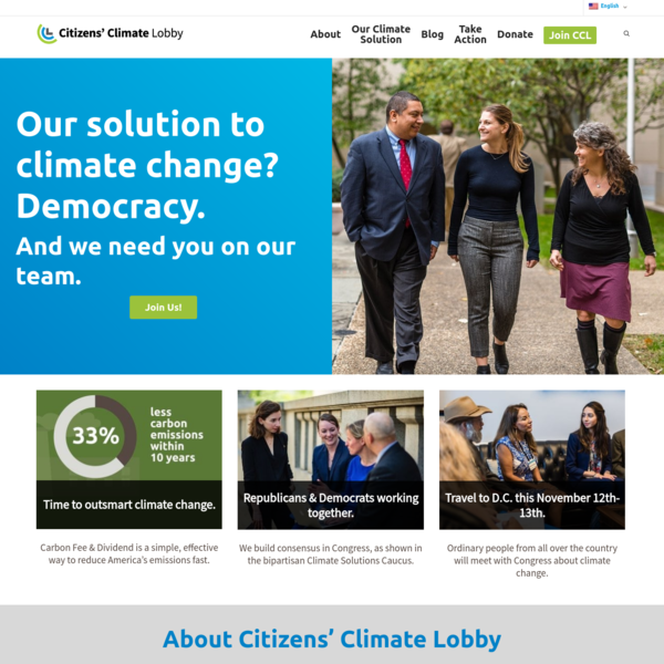 Citizens' Climate Lobby - take action on climate change solutions