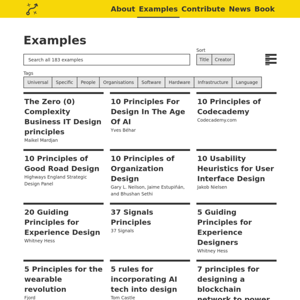 An Open Source collection of Design Principles and methods