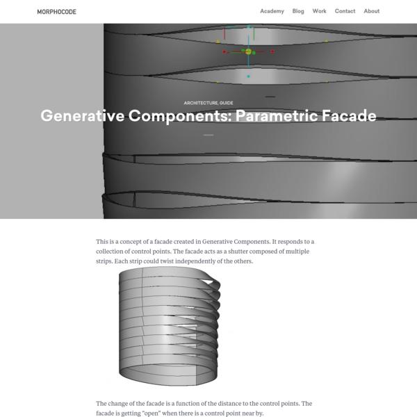 Generative Components: Parametric Facade - MORPHOCODE