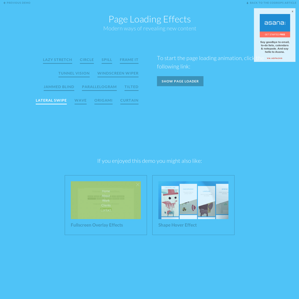 Page Loading Effects   Demo 10