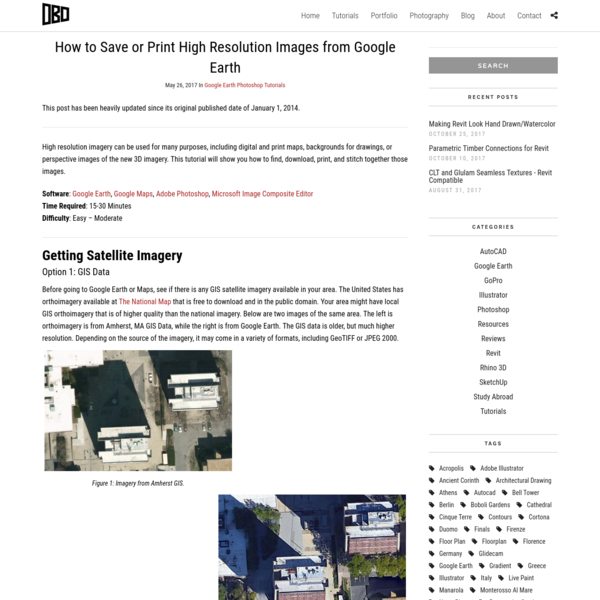 How to Save or Print High Resolution Images from Google Earth