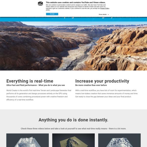 World Creator - A Procedural Terrain and Landscape Generator