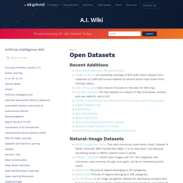 Open Datasets
