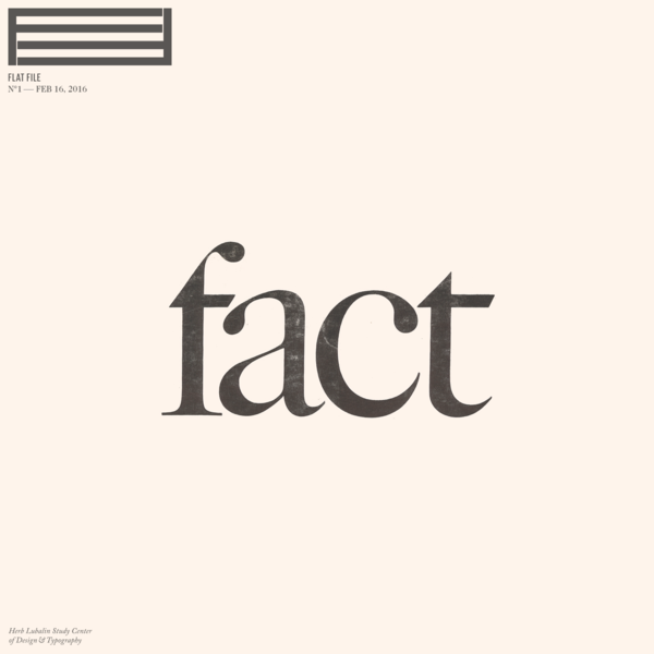 'Issue N°1 - Fact Magazine' by Flat File | Readymag