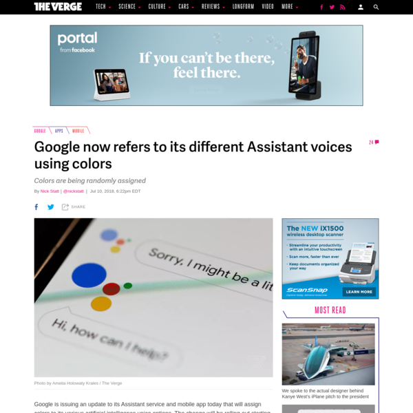 Google is issuing an update to its Assistant service and mobile app today that will assign colors to its various artificial intelligence voice options. The change will be rolling out starting today and continue through the week, for users in the US using the English language option.
