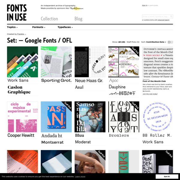 - Google Fonts / OFL - Fonts In Use