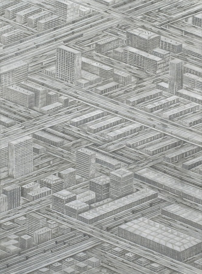 Thomas Bayrle, Die Stadt (The City), 1976