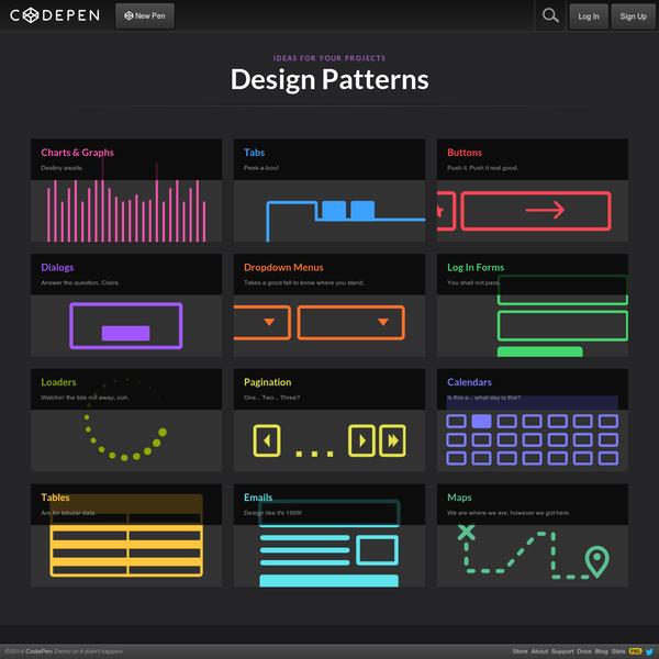 Design Patterns on CodePen