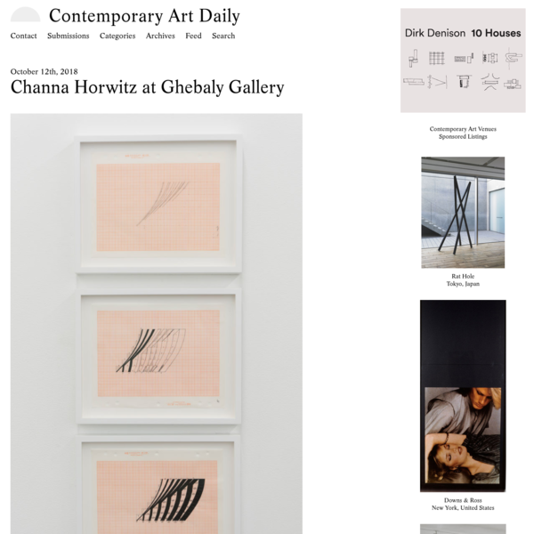 Channa Horwitz at Ghebaly Gallery (Contemporary Art Daily)