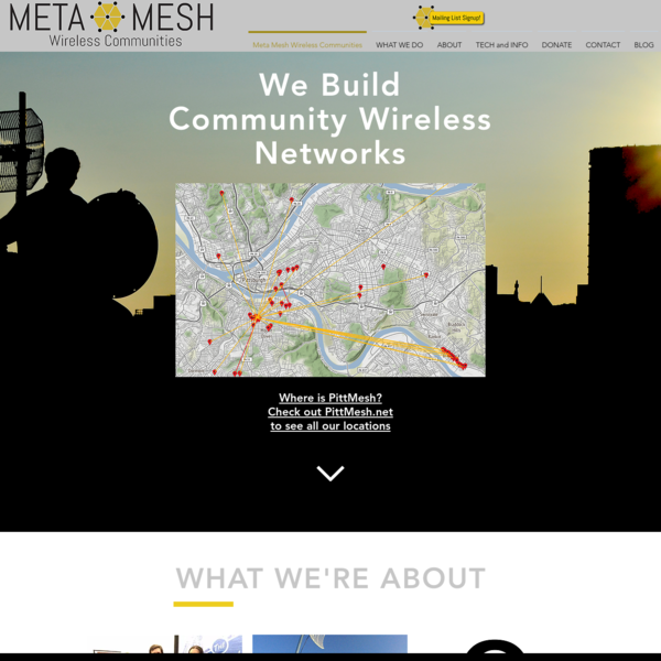 Meta Mesh Wireless Communities Builds Public WiFi Networks to bridge the Digital Divide.