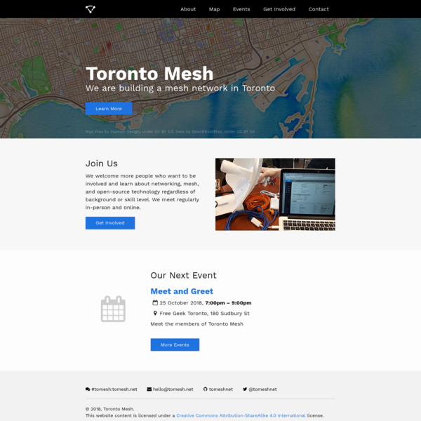We are building a mesh network in Toronto.