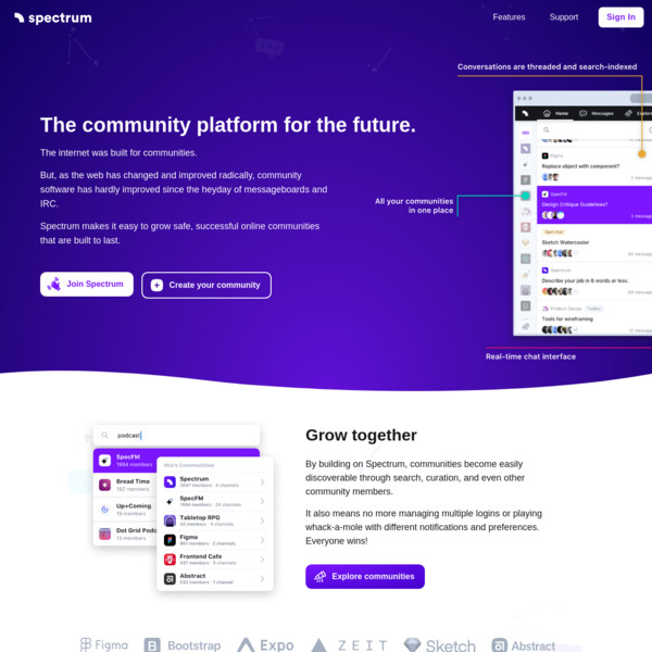 The community platform for the future.
