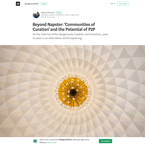 Beyond Napster: 'Communities of Curation' and the Potential of P2P