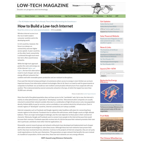 How to Build a Low-tech Internet