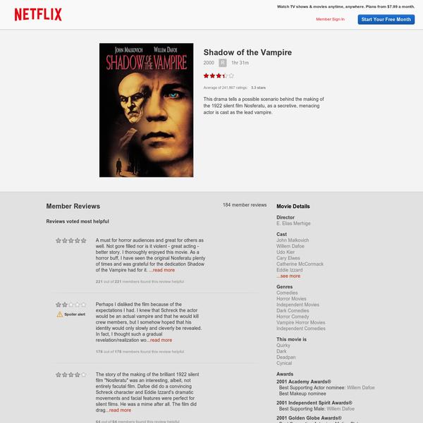 Watch Shadow of the Vampire Online | Netflix